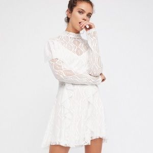 Free People Victorian Lace Mock Neck Dress